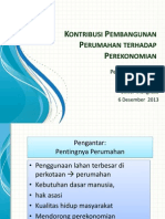 Kontribusi Pembangunan Perumahan pada Perekonomian