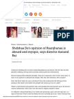 Shobhaa de's Opinion of Raanjhanaa is Absurd and Myopic, Says Director Aanand Rai - Entertainment - DNA