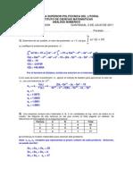 Análisis Numérico Primera Evaluación 2011 ESPOL