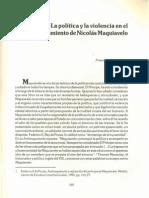 Politica Violencia Maquiavelo