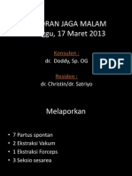 Laporan Jaga 17 Maret 2013