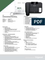 Datasheet Gigaset DA710 v5.0