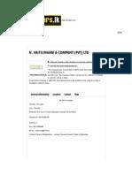 n Vaitilingam & Company (Pvt) Ltd