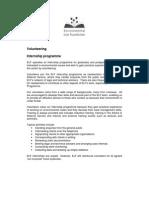 Volunteer Information Sheet