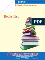 Books List TNPSC