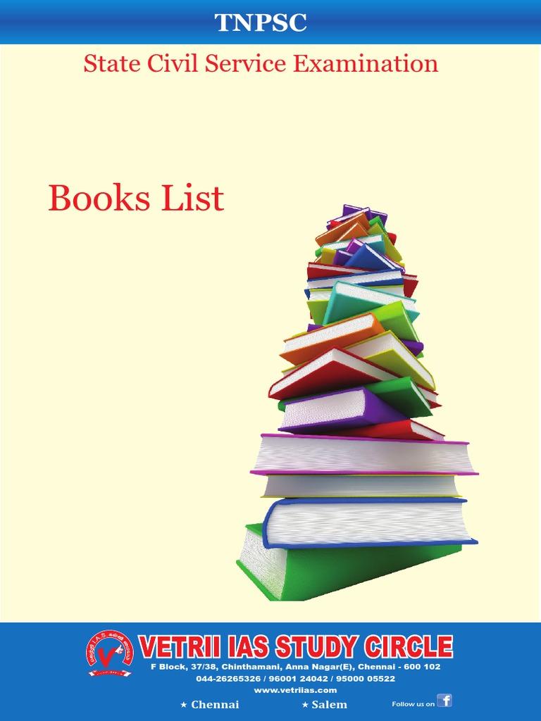 Books List TNPSC