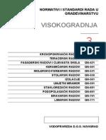 Normativi i Standardi Rada u Gradjevinarstvu -III Deo