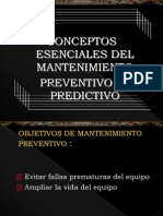 Conceptos de Mantenimiento Preventivo y Predictivo