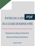 Síntesis de la Economía de la Ciudad de Buenos Aires - Septiembre 2008