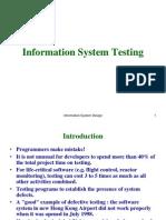 Information System Testing