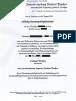 Vorl. StaUrk des Freistaats Preußen mit Haager Apostille 1961