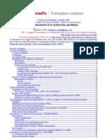 Entraînement à la recherche juridique pour élaborer des textes normatifs