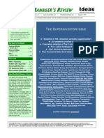 Portfolio Manager's Review -- The Superinvestor Issue, August 21, 2009, by The Manual of Ideas