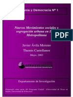 Nuevos Movimientos Sociales Lima Metropolitana