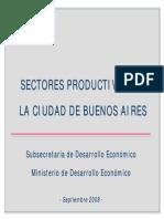 Sectores productivos de la Ciudad de Buenos Aires - Septiembre 2008