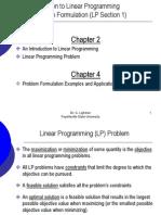Problem Formulation (LP Section1)