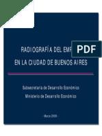 Radiografía del empleo en la Ciudad Autónoma de Buenos Aires - Marzo 2009