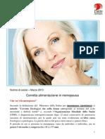Marzo 2013 Corretta Alimentazione in Menopausa