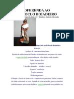 Oferenda Ao Caboclo Boiadeiro