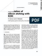 Silicon Etching With KOH
