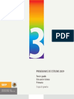 Programas de estudio 2009 Tercer grado. Educación básica Primaria. Etapa de prueba