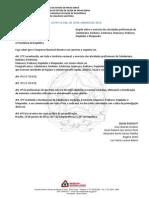 LEI 12.592 10-01-2012. (Regulamenta as Atividades de Cabelereiro, Barbeiro, Esteticista, Manicure, Pedicure, Depilador e Maquiador)