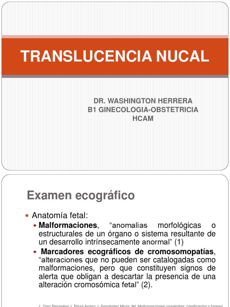 TRASLUCENCIA NUCAL
