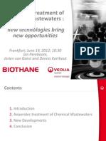 Pereboom Anaerobic Treatment of Chemical Wastewaters ACHEMA 2012