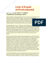Life and Works of Evgenii Alekseevich Preobrazhenskii