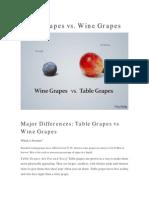 Diferencia Entre Uva para Vino y Consumo Mesa