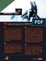 10 raisons d'utiliser SIMM-TGI