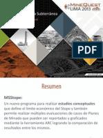2013-MSStope-EvaluacionMinaSubt