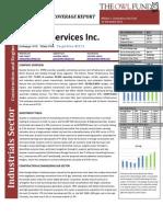 Quanta Services Inc. Initiating Coverage Report