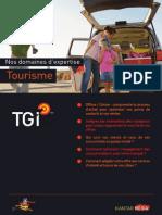 Nos domaines d'expertise - Secteur tourisme