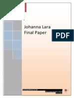 Final Paper Johanna Lara Lic Viii
