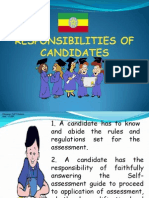 Responsibilities of Candidates