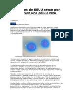 Crean Por Primera Vez Una Celula Viva Artificial