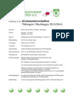 Kreismeisterschaften Einladung 2014