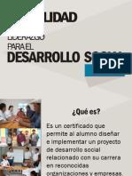 Información Modalidad en Liderazgo para el Desarrollo Social