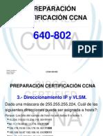 PREPARACIÓN CERTIFICACIÓN CCNA (IP VLSM)