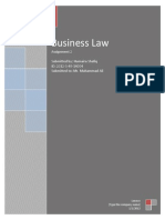 Business Law Assignment 2