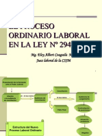 El Nuevo Proceso Laboral Ordinario Ley 29497