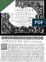 F-Pierre Ballard (1638) Tablature de Luth Accords Nouveaux
