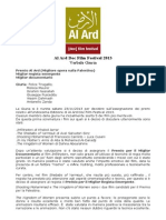 Al Ard Festival Verbale Giuria 2013 - Italiano