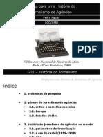História do Jornalismo de Agências