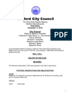Medford City Council Meeting Wednesday, December 11, 2013