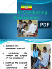 Steps in Conduct of Assessment
