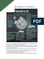 Cloruro de Magnesio La Cura Milagrosa