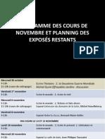 PROGRAMME DES COURS DE NOVEMBRE ET PLANNING DES EXPOSES RESTANTS.pdf