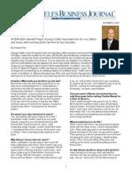 Manatt's George Kieffer profiled in LA Business Journal